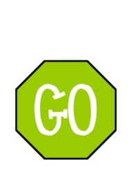Stop and Go Sign for the bathroom by Sara Cooper | TpT