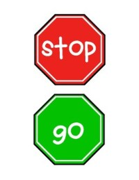 Stop and Go Signs for Classroom Centers and Bathrooms | TpT