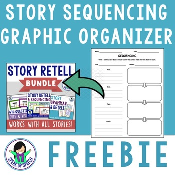 Story Sequencing Map/How-To Story Template - FREEBIE by Speak Up Speech