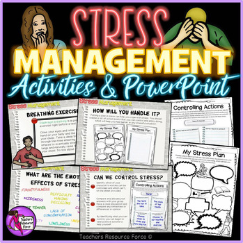 Stress Management activities and powerpoint for teens TpT