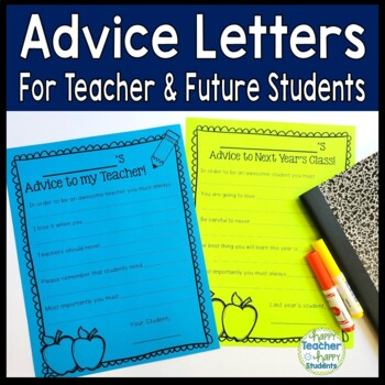Advice Letters for Teacher  Next Year\u0027s Class of Students TpT