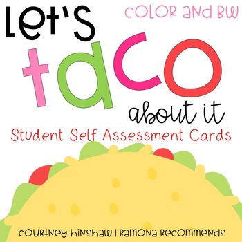Student Self Assessment Posters by Ramona Recommends Courtney Hinshaw - student self assessment