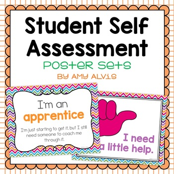 Student Self Assessment Posters by Amy Alvis Teachers Pay Teachers - student self assessment