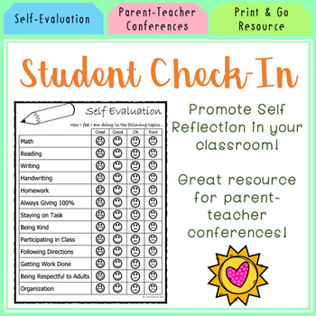 Student Self-Evaluation Form by Learning with Lexie TpT