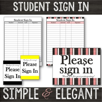 Student Sign In Sheets Editable Teaching Resources Teachers Pay