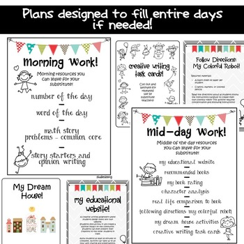 Substitute Plans Emergency - Sub Plans by StudentSavvy TpT