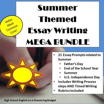 Summer Themed Essay Writing MEGA BUNDLE, w Rubrics  Printables by