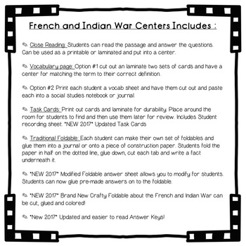 Super Social Studies Centers French and Indian War TpT