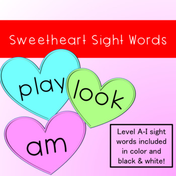 Sweetheart Sight Words by Silly Ms Dilley Teachers Pay Teachers