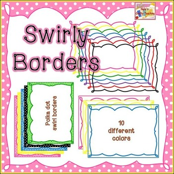 Swirly Page Borders by Nyla\u0027s Crafty Teaching Teachers Pay Teachers