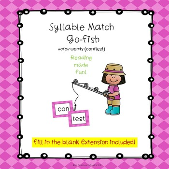 Syllable Match Go-Fish VC/CV Words by All Roads Lead to Reading TpT