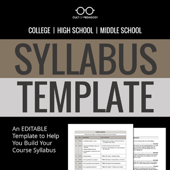 Syllabus Template by Cult of Pedagogy Teachers Pay Teachers - syllabus template