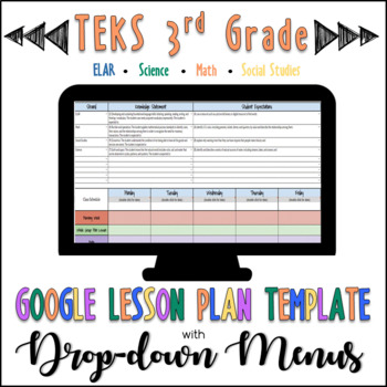Lesson Plan Template Teks Teaching Resources Teachers Pay Teachers - teks lesson plan template