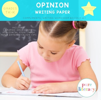 TK-K Opinion Writing Paper Pack Landscape Format Edition by Pure - horizontal writing paper