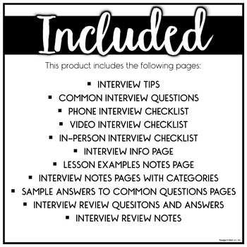 Teacher Interview Prep EDITABLE by Pocketful of Primary TpT - interview questions for teachers
