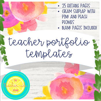 Teacher Portfolio Template Teaching Resources Teachers Pay Teachers