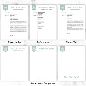 Teacher Resume Template For MS Word + Mac Pages Educator Resume