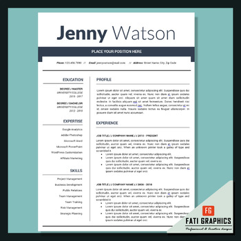 School Resume Teacher, CV Template, Cover Letter Word, Teacher