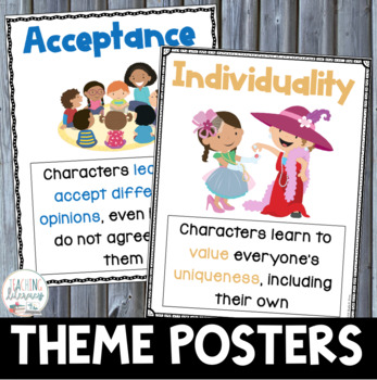 Teaching Theme - 61 POSTERS + 5 EDITABLE Poster Templates  BOOKLIST - editable poster templates