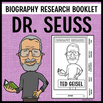 Ted Geisel (Dr Seuss) Biography Research Booklet by Teacher Trap
