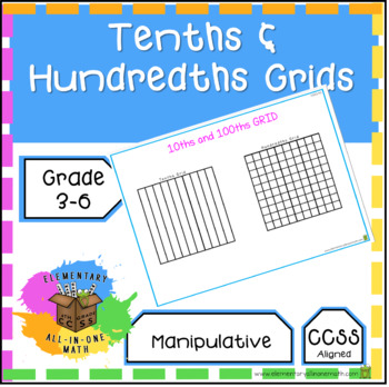 Tenths And Hundredths Grids Worksheets  Teaching Resources TpT
