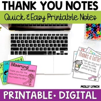 Thank You Notes for Students  Families by Lucky to Be in First by