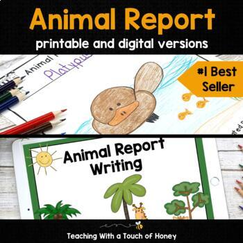 Animal Research Project - Report Writing Templates TpT - research project report