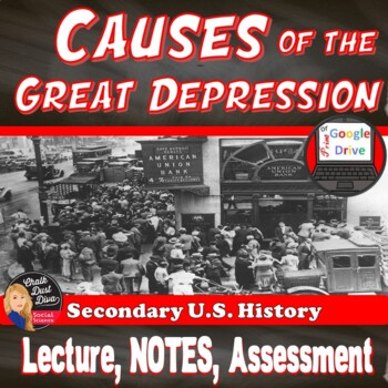 Causes Of The Great Depression Review Teaching Resources Teachers