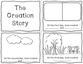 The Creation Story Mini Book Freebie By Just Reed Tpt