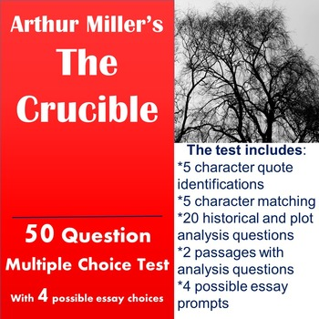The Crucible Test with Passage Analysis by Stephanie Doksa TpT
