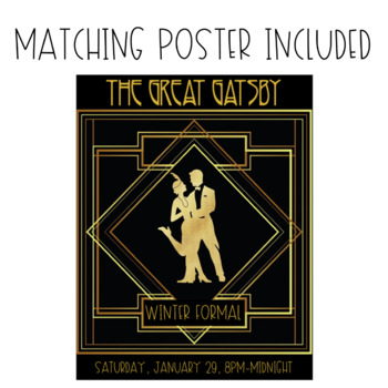 The Great Gatsby Dance Ticket Template by The Never Boring Mrs Doering