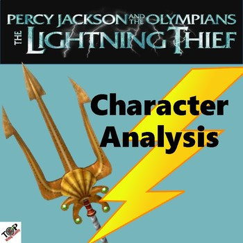 The Lightning Thief Percy Jackson Character Analysis Activities TpT