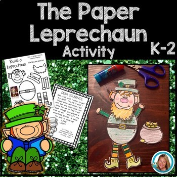 St Patrick's Day Craftivity - The Paper Leprechaun - Fun P