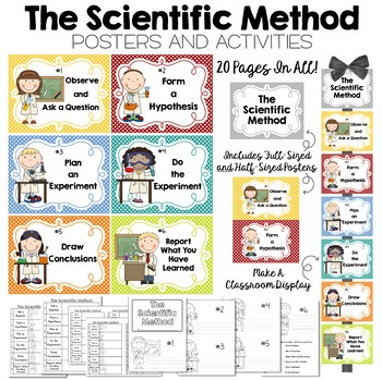 The Scientific Method Posters and Activities - Great for Science