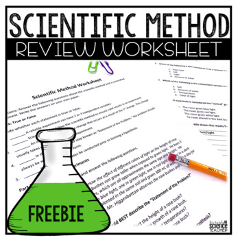 Scientific Method Worksheet (answer key included) by The Trendy