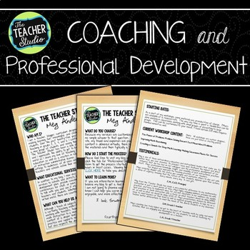 The Teacher Studio Professional Development and Coaching Brochure