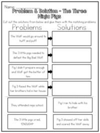 The Three Ninja Pigs - Problem & Solution Worksheet by ...