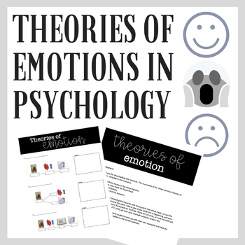 Theories of Emotion in Psychology Powerpoint, Notes Sheet  Activity