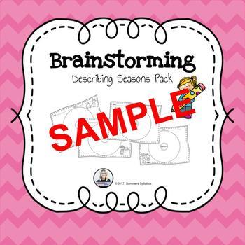 Brainstorming Seasons Sample by Summers Syllabus TpT