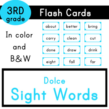 Third Grade - Dolce Sight Words - 41 Flash Cards by The Prodigy Box
