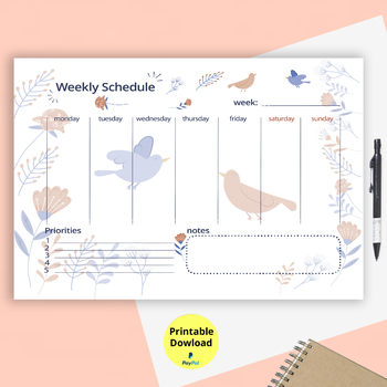 This Printable Weekly Schedule Planner includes both Sunday  Monday