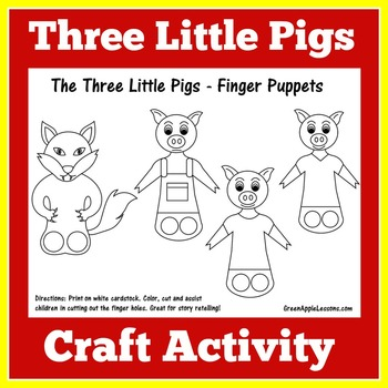 Finger Puppets Three Little Pigs Teaching Resources Teachers Pay