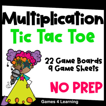 Multiplication Games - Printable Tic Tac Toe Math Games for Fact