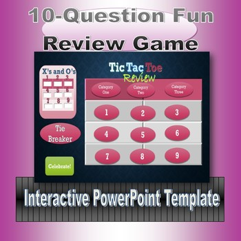 Tic Tac Toe Review Game Template by Miss Sherrellu0027s Game Station - tic tac toe template