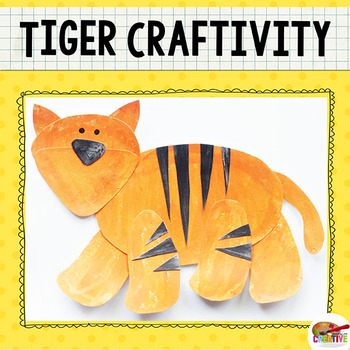 Tiger Craftivity Template by Keeping Life Creative TpT