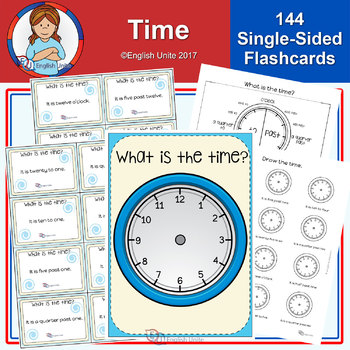 Time Poster, Flashcards and Worksheets by English Unite Resources