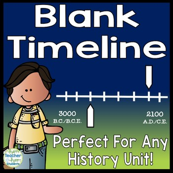 Blank Timeline Template Perfect for any History Timeline! TpT