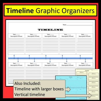 Timeline/ Time Line- Blank and Ready to Fill In by Kim Kroll TpT