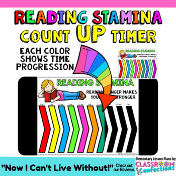 Timer for Reading Stamina Count UP 5, 10, 20, and 30 minute timers