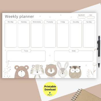 To do list, Weekly planner Printable,Weekly Organizer by MokileArt